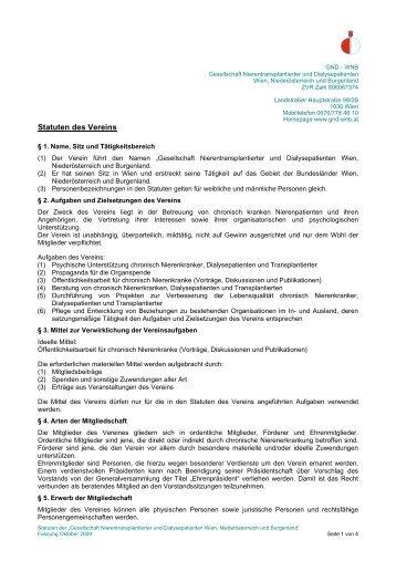 gesellschaft nierentransplantierter und dialysepatienten österreichs