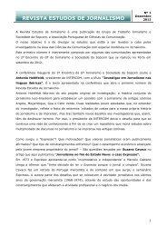 Revista Estudos de Jornalismo - Sopcom