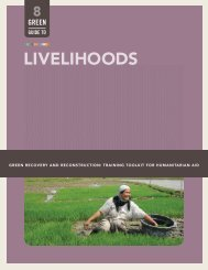 LIVELIHOODS - Green Recovery & Reconstruction