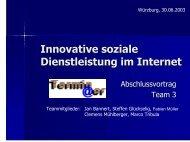 Innovative soziale Dienstleistung im Internet