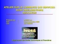 Audit Reglementaire Education, Lea Akissi, BNETD - ILEAP