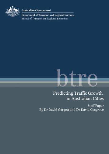 PDF: 1684 KB - Bureau of Infrastructure, Transport and Regional ...