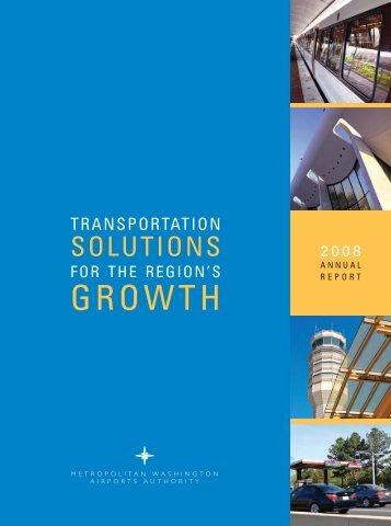 Annual Report 2008 - Metropolitan Washington Airports Authority