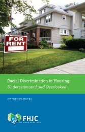 Racial Discrimination in Housing: Underestimated and Overlooked