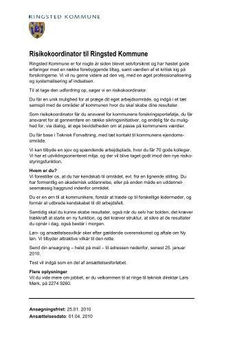 Risikokoordinator til Ringsted Kommune - primo