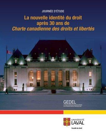 Programme - Faculté de droit de l'Université Laval
