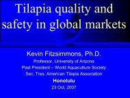 Tilapia Quality and Safety in Global Markets