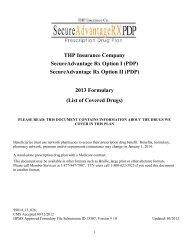 SecureAdvantage Rx Option II (PDP) 2013 Formulary