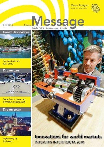 Message issue 1/2010 - Messe Stuttgart