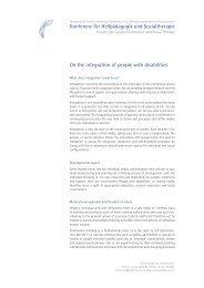 Konferenz für Heilpädagogik und Sozialtherapie On the integration ...