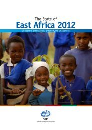 State of East Africa 2012 - Society for International Development ...