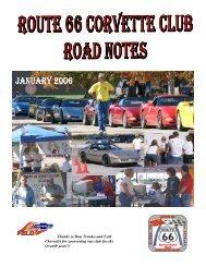 President's Letter - Route 66 Corvette Club