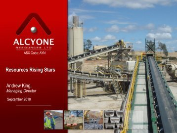 Resources Rising Stars 2010 (4.95 Mb) - Alcyone Resources