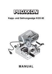Kapp- und Gehrungssäge KGS 80 - Axminster Power Tool Centre