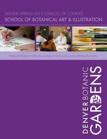 school of botanical art & illustration - Denver Botanic Gardens