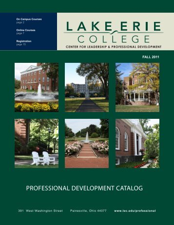 PROFESSIONAL DEVELOPMENT CATALOG - Lake Erie College