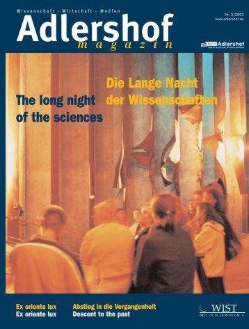 Adlershof-Magazin 3