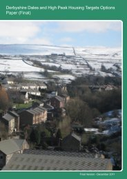Derbyshire Dales and High Peak Housing Targets Options Paper ...