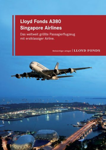 Lloyd Fonds A380 Singapore Airlines
