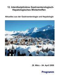 Programm - Gastroenterologie Wintertreffen