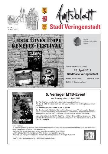 Amtsblatt KW 16 - Veringenstadt