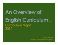 General Ed Curricular Presentation