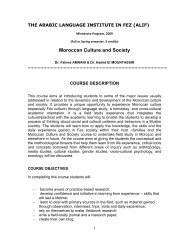 Moroccan Culture and Society - Learning Abroad Center