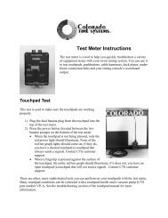 Test Meter Instructions - Colorado Time Systems