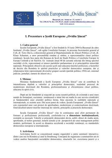 """Prezentare SEOS.pdf - Institutul Social Democrat """"Ovidiu Sincai"""""""