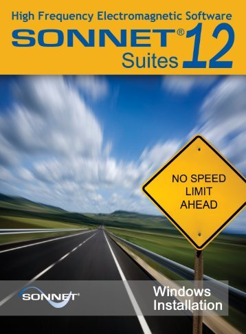 Windows Installation Manual - Sonnet Software