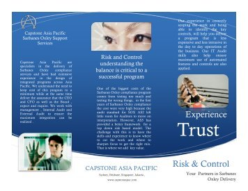 download the brochure - Capstone Asia Pacific