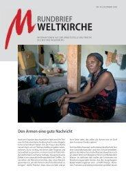 Nr. 18 - Dezember 2009 - Arbeitsstelle Weltkirche