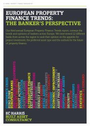 european property finance trends: the banker's perspective - EC Harris
