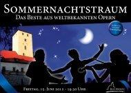 Sommernachtstraum - ZeitOrte