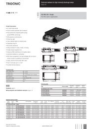 Electronic ballasts for high-intensity discharge lamps Indoor HI PCI ...