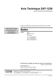 Avis Technique 2/07-1238 Sadev - CSTB