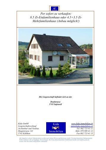 Per sofort zu verkaufen: 8.5 Zi-Einfamilienhaus oder ... - Homegate.ch