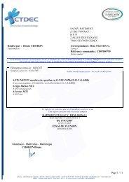 Page 1 / 11 Réalisé par : Bruno CHORON Correspondant : Mme ...
