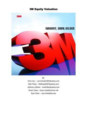3M Equity Valuation - Mark Moore