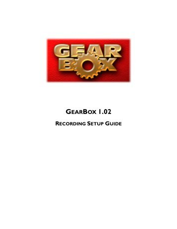 GearBox 1.02 Recording Setup Guide - Line 6