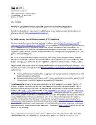 Oil Spill Prevention, Control & Countermeasure (SPCC) Regulations