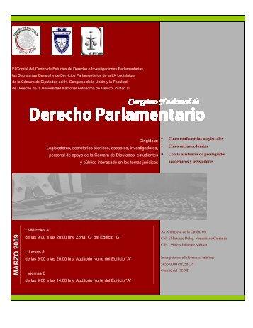 Congreso Derecho Parlamentario web2 - Cámara de Diputados