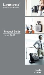 Linksys 2007 product guide - Hi Country Wire and Telephone