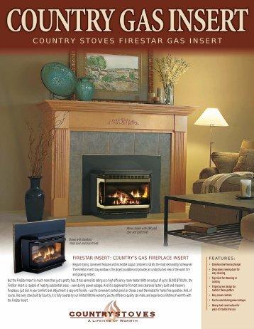country stoves firestar gas insert - Inglenook Energy Center