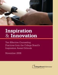 Inspiration & Innovation - College Board Advocacy & Policy Center