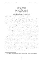 gli obbiettivi del piano simpo - Agenzia Interregionale per il fiume Po