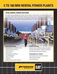 5 TO 100 MW RENTAL POWER PLANTS - Peterson Power