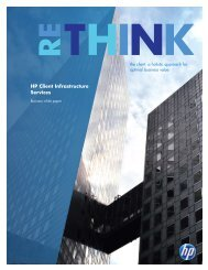 HP Client Infrastructure Services (white paper)