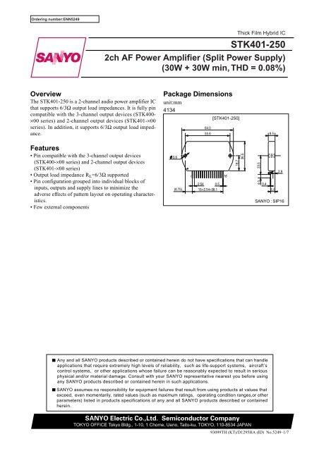 Hybrid-IC STK401-140 ; Power Audio Amp