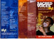 Sacred Voices Music Village - Cultural Co-operation